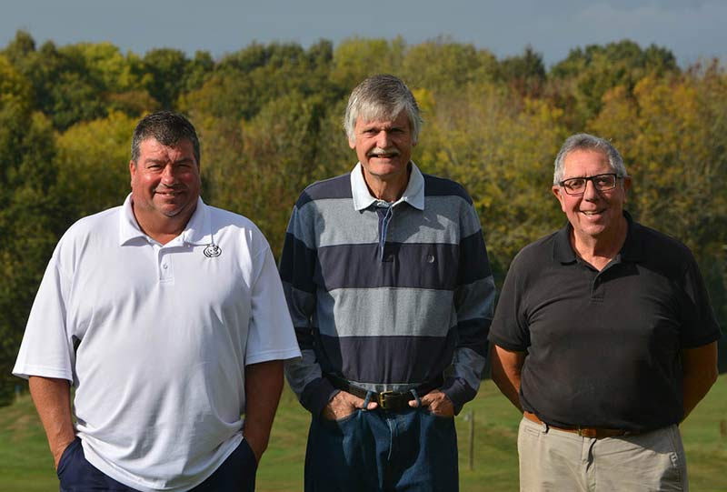 (L to R) Terry Russell, Alan Brewer, Terry Farmer